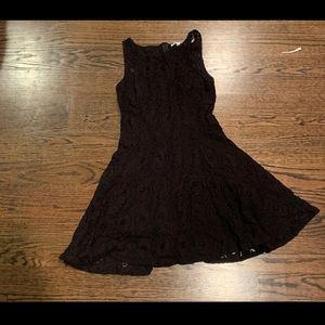 BB Dakota Fit and Flare black Lace Dress